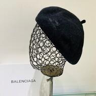 Balenciaga Wool Beret In Black