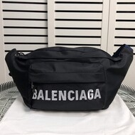 Balenciaga Wheel Beltpack In Black
