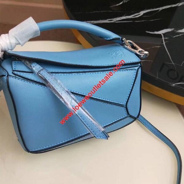 Loewe Mini Puzzle Bag Classic Calf In Sky Blue