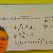 Integral of Secant