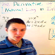 The Derivative of Natural Log in Integrals