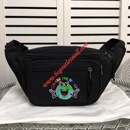 Balenciaga Explorer Logo Embroidered Beltpack In Black