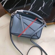 Loewe Mini Puzzle Bag Classic Calf In Light Blue