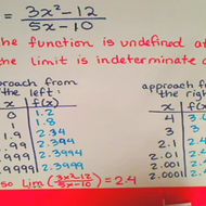 Finding an Indeterminate Limit with a T Chart