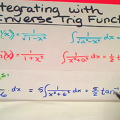 Integration Using Inverse Trigonometric Functions