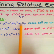 Graphing Relative Extrema