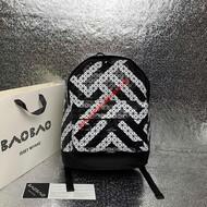 Issey Miyake Kuro Daypack Stripe Backpack Black/White