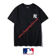 MLB NY Embroidery Logo Short Sleeve T-shirt New York Yankees Black