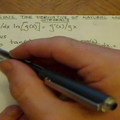 Using the Derivative of Natural Log in Integrals
