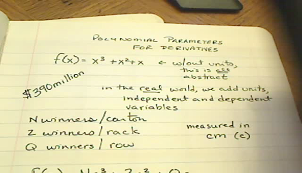 Polynomial Parameters for Derivatives