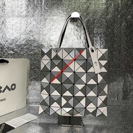 Issey Miyake Lucent Bi-color Tote Grey