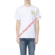 MLB NY Gold Embroidery Logo Short Sleeve T-shirt New York Yankees