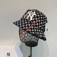 MLB NY Monogram Logo Bucket Hat New York Yankees Hat Black
