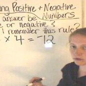 Multiplying Positive and Negative Numbers