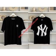 MLB NY Popcorn Big Logo Short Sleeve T-shirt New York Yankees Black