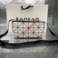 Issey Miyake Slash Carton Small Crossbody Bag Beige