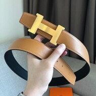 Hermes Constance Buckle 38MM Reversible Belt Smooth Leather In Black/Brown