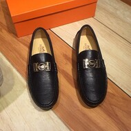 Hermes Loafer Togo Leather Black