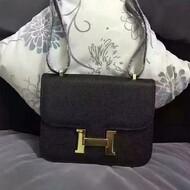 Hermes Constance Bag Epsom Leather Gold Hardware In Black