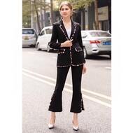 Hermes Leopard Print Suit In Black