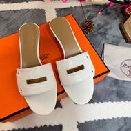 Hermes Very Sandal Calfskin In White