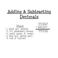 Math 6 Lesson 4.3: Adding and Subtracting Decimals