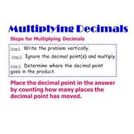 Math 6 Lesson 4.4: Multiplying Decimals