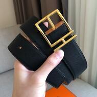 Hermes Nathan 40 Belt Togo Leather In Black/Brown