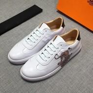 Hermes Quicker Sneaker Calfskin White