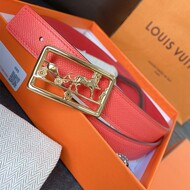 Hermes Caleche Buckle 24MM Reversible Belt Epsom Leather In Red