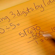 Dividing 3 digits by 1 digit