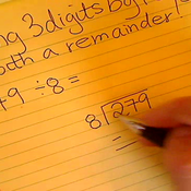 Dividing 3 digits by 1 digit, Remainder
