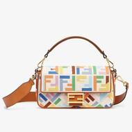 Fendi Baguette Bag In Canvas Multicolor