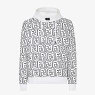 Fendi FF Contrasting Jersey Sweatshirt In Cotton White