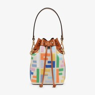 Fendi Small Mon Tresor Bucket Bag In Canvas Multicolor