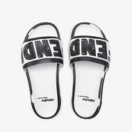 Fendi Fussbett Slides In Roma Joshua Vides Leather White