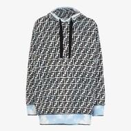 Fendi FF Graphic Sweatshirt In Cotton Black