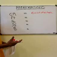 Math Symbols and Abbreviations