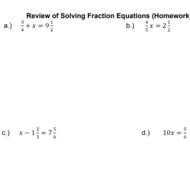 Math 6 Lesson 11.2/11.3: Solving Fraction Equations with All Operations