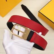 Fendi Pin Bucket Belt In Calf Leather Red