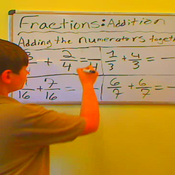 Adding Fractions with Like Denominators, Regrouping