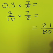 Multiplying Decimals by Fractions