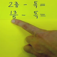 Subtracting Fractions from Mixed Numbers