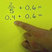Adding Fractions to Decimals