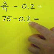 Subtracting Decimals from Fractions