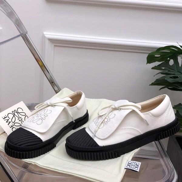 Loewe Anagram Flap Sneaker Women Canvas In White