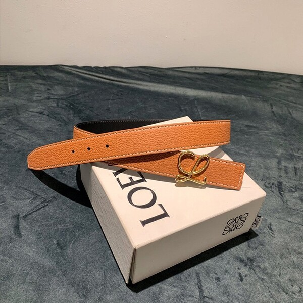 Loewe Reversible Belt Togo Calfskin In Brown