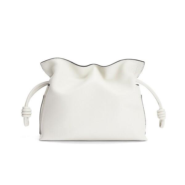 Loewe Mini Flamenco Clutch Nappa Calfskin In white