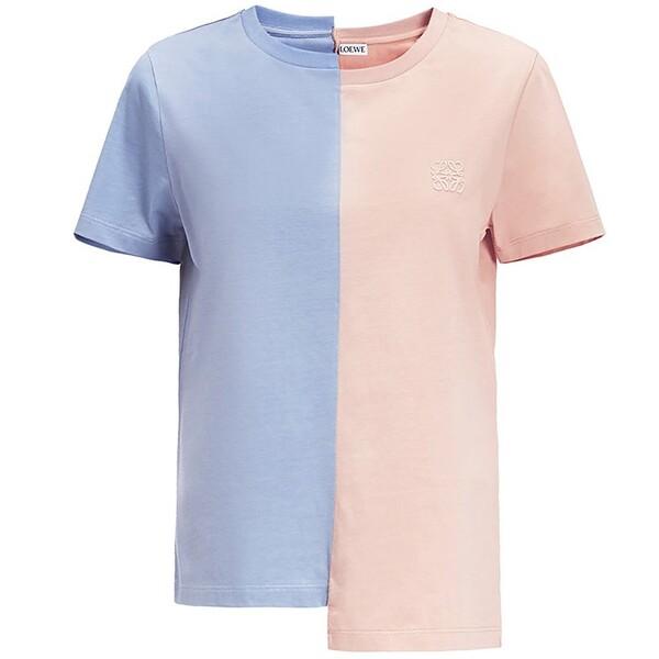 Loewe Asymmetric Anagram T-shirt Blue/Pink