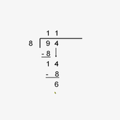 Dividing Two Digit Numbers by One Digit Numbers